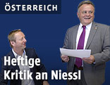 Der burgenländische SPÖ-Parteichef LH Hans Niessl und FPÖ-Landesparteichef Johann Tschürtz