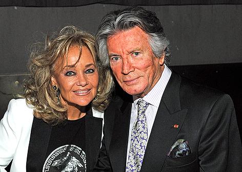 Der französische Schauspieler Pierre Brice und seine Frau Hella 2012