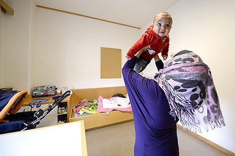 Asylwerberin mit ihrem Kind