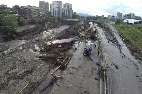 Überschwemmungen in Tiflis