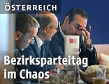 FPÖ-Generalsekretär Herbert Kickl, der designierte Salzburger Landesparteiobmann Andreas Schöppl und FPÖ-Bundesparteiobmann Heinz Christian Strache