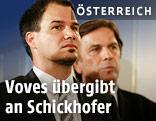 Der designierte steirische LH-Stv. Michael Schickhofer und der scheidende LH der Steiermark Franz Voves