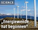 Windräder im Tauernwindpark Oberzeiring