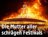 Brennender Mann beim Burning-Man-Festival