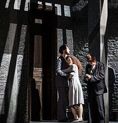 Gábor Bretz (Herzog Blaubart), Nora Gubisch (Judith), Heinz Heisinger