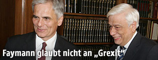Bundeskanzler Werner Faymann und Griechenlands Präsident  Prokopis Pavlopoulos