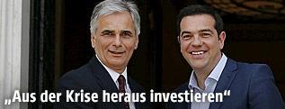 Bundeskanzler Werner Faymann und Griechenlands Premier Alexis Tsipras