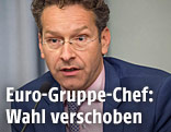 Eurogruppen-Chef Jeroen Dijsselbloem