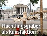 "Kunstaktion ""Die Toten kommen"" am Ring"