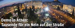 Großdemonstation vor dem Parlament in Athen