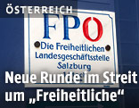 Schild der FPÖ-Zentrale in Salzburg