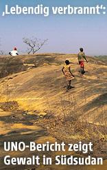 Menschen auf einem Hügel