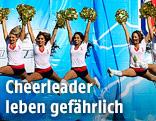 Springende Cheerleader