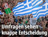 Demonstranten bei einer Kundgebung von Alexis Tsipras in Athen