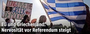 Pro-Griechenland Demonstration in Frankreich