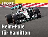 Lewis Hamilton auf der Rennstrecke von Silverstone