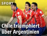 Chilenische Spieler jubeln
