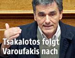 Euklid Tsakalotos, neuer griechischer Finanzminister