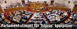 Innenansicht des griechischen Parlaments