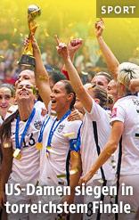 US-Damen jubeln mit WM-Pokal