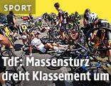 Massensturz auf der dritten Etappe der Tour de France