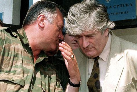 Radovan Karadzic und sein Ratko Mladic