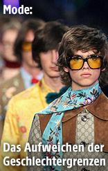 Männerkollektion von Gucci auf der Mailänder Fashion Week