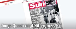 Junge Queen Elizabeth II. beim Hitlergruß