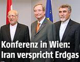 Irans Industrieminister H.E. Mohammad R. Nematzadeh, WKÖ-Präsident Christoph Leitl und Botschafter H.E. Hassan Tajik