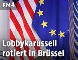 US- und EU-Fahne
