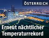 Nächtliche Skyline von Wien
