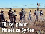 Grenzzaun zwischen Türkei und Syrian