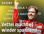 Jubel von Sebastian Vettel (GER/Ferrari)