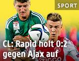 Szene aus dem Spiel Rapid Wien gegen Ajax Amsterdam