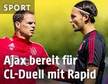 Ajax-Trainer Frank de Boer mit Nemanja Gudelj
