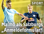 Markus Rosenberg (Malmö) und Martin Hinteregger (Red Bull Salzburg)