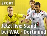 Kampf um den Ball bei WAC - Dortmund