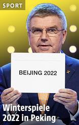 "Thomas Bach hält Zettel mit ""Beijing 2022"""
