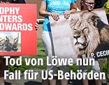 Protest gegen die Tötung des Löwen Cecil