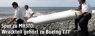 Wrackteil der Boeing 777 Flug MH370