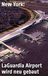 Renderings zeigen geplanten Flughafen LaGuardia