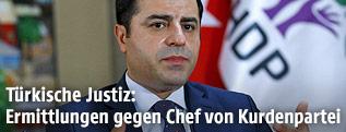 Selahattin Demirtas (Chef der prokurdischen Demokratischen Partei der Völker, HDP)
