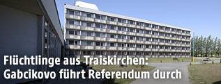Das Gebäude in Gabcikovo (Slowakei), in dem Flüchtlinge aus Traiskirchen untergebracht werden sollen