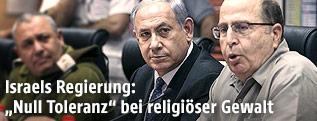 Israels Premier Benjamin Netanyahu und Verteidigungsminister Moshe Jaalon
