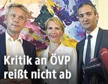 ÖVP-Klubobmann Lopatka sowie die ehemaligen Parteimitglieder des Team Stronach Nachbaur und Ertlschweiger