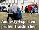 Flüchtlinge im Flüchtlingslager Traiskirchen