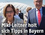 Bayerns Innenminister Joachim Herrmann , die bayerische Europaministerin Beate Merk und die österreichische Innenministerin Johanna Mikl-Leitner