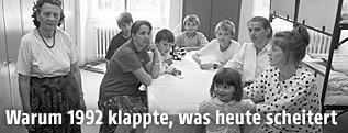 Bosnische Füchtlinge 1992 in der Prinz-Eugen-Kaserne in Stockerau