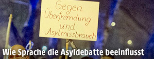Demonstration von Asylgegnern