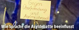 Demonstration von Asylgegnern